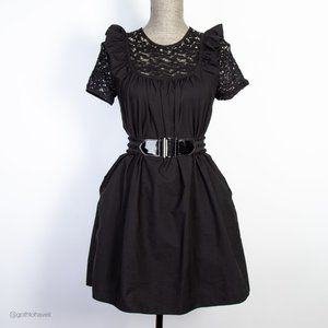 Zara Baby Doll Black Dress